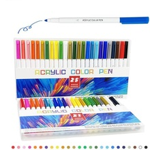 New 25 Color Acrylic Brush Marker Pen Water-Based Paint Pen DIY Stationery Art Painting Set