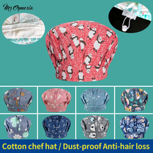 Work-Hats Catering-Caps Coffee-Shop Hotel Waitress Kitchen Restaurant Cotton for Long-Hair