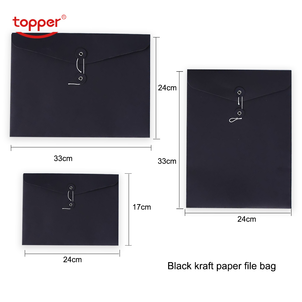 3pcs/lot A4 A5 A4 Vertical Size Kraft Paper File Bag  Paper Stationery Document Folder Office File Folders  School Envelope Bag