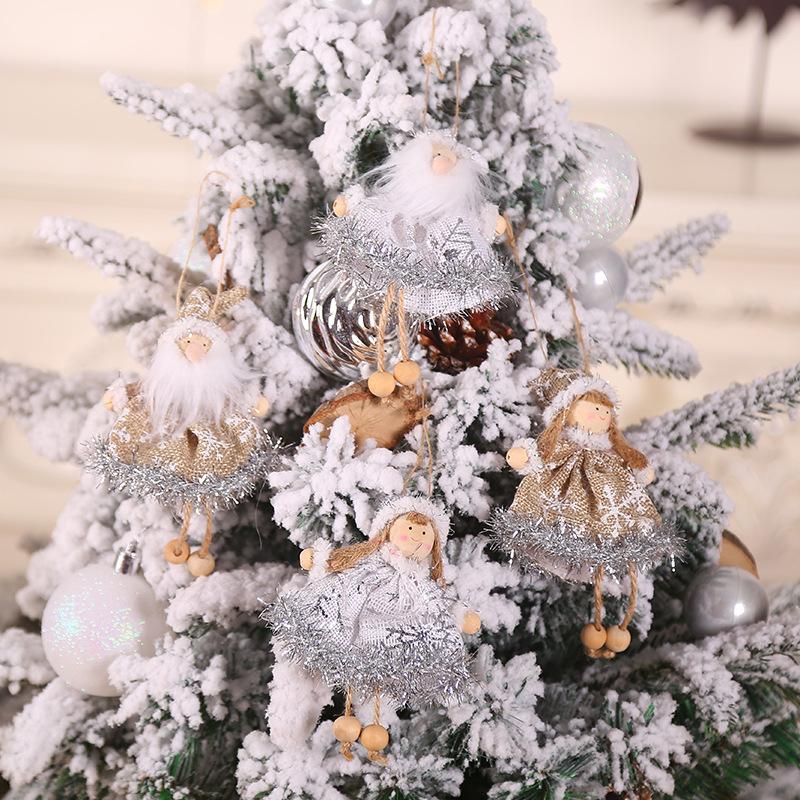 New Year 2020 Merry Christmas Ornaments Christmas Angel Elf White Christmas Decorations for Tree Toy Xmas Decor Swiateczne Natal 27