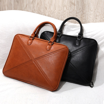 Portafolios Maletin Mujer 12 13.3 14 Inch Leather Laptop Bag Women Business Bag for Women Office Bags Briefcase A4 File Pocket