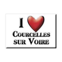 Aimant COURCELLES SUR VOIRE aimant plat NORMANDIE (10) France aimant frigo SOUVENIR j'aime cadeau