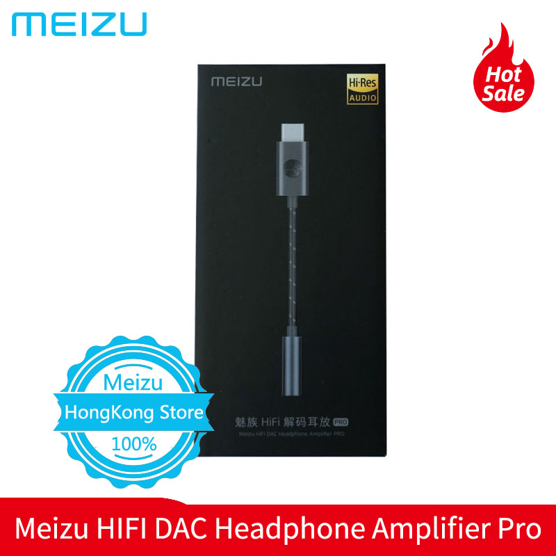 Meizu HIFI DAC Headphone Amplifier Pro tipo-c a 3.5mm Compatível Com Android/Windows/Mac os sistemas 16-600 Ω alta impedância