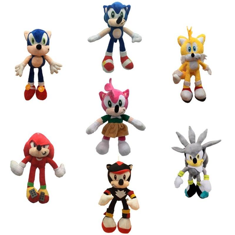 25cm Sonic Peluche Toys Cute Sonic Plush Toys Soft Stuffed D…