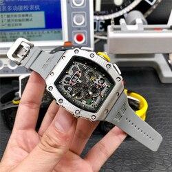Limitde Edition Richard автоматические часы, мужские часы, Топ люксовый бренд, механические наручные часы mille, силиконовый ремешок, DZ часы, подарок