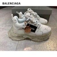 Retro Balenciaga Triple S Women Sneakers Fashion Platform Chunky Sneakers Ladies Running Shoes Men Trainers Female Dad Shoes