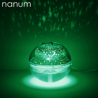 Car air freshener LED Crystal Night Light Projection Humidifier Diffuser Ultrasonic USB Portable With Air Purifier Mist Maker|Car Air Humidifier| |  -