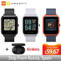Wersja globalna Xiaomi Huami Amazfit Bip smart watch pulsometr GPS system gld Smartwatch 45 dni w trybie gotowości do telefonu MI8 z systemem IOS