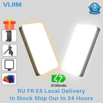 цена на VIJIM Ultra Thin DSLR LED Video Light On Photography Lighting Vlog Fill Light Lamp With Cold Shoe for Camera Smartphone DSLR SLR