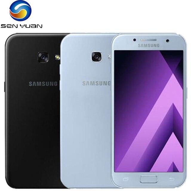 Original Samsung Galaxy A5 (2017) 4G CellPhone Unlocked 5.2'' A520F 3GB+32GB Octa Core Android SmartPhone 16MP LTE Mobile Phone 1