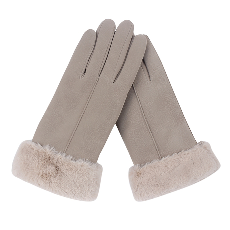 Winter Women Screen Touch Gloves Plush Velvet Touch Screen Cute Warm Furry Mittens Full Finger Female Cold Protection Gloves