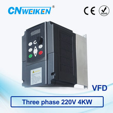 WK600 Vector Control frequency converter 4.0kw three-phase 220V to Three-phase 220V variable frequency inverter AC drive 440v 15kw three phase low power ac drive for water pump