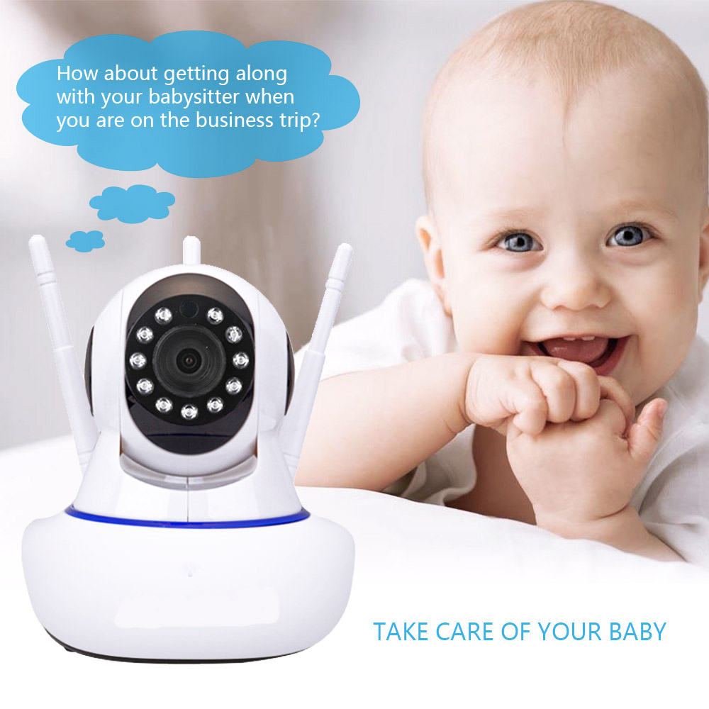 Wireless 1080P WIFI IP Camera Home Indoor Security Monitor Smart Network Video Cream System  Audio Night Vision APPOeak