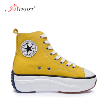 Canvas Shoes Women Fashion Trainers Women High Top Sneaker Lady Autumn Female Footwear Breathable Sneakers Platform Shoes
