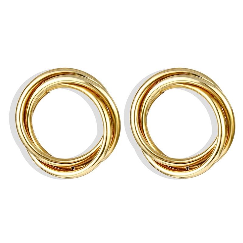 IPARAM, новинка, большие круглые серьги-кольца для женщин, модные, массивные, золотой, в стиле панк, очаровательные серьги, вечерние ювелирные изделия - Окраска металла: IPA0101-5