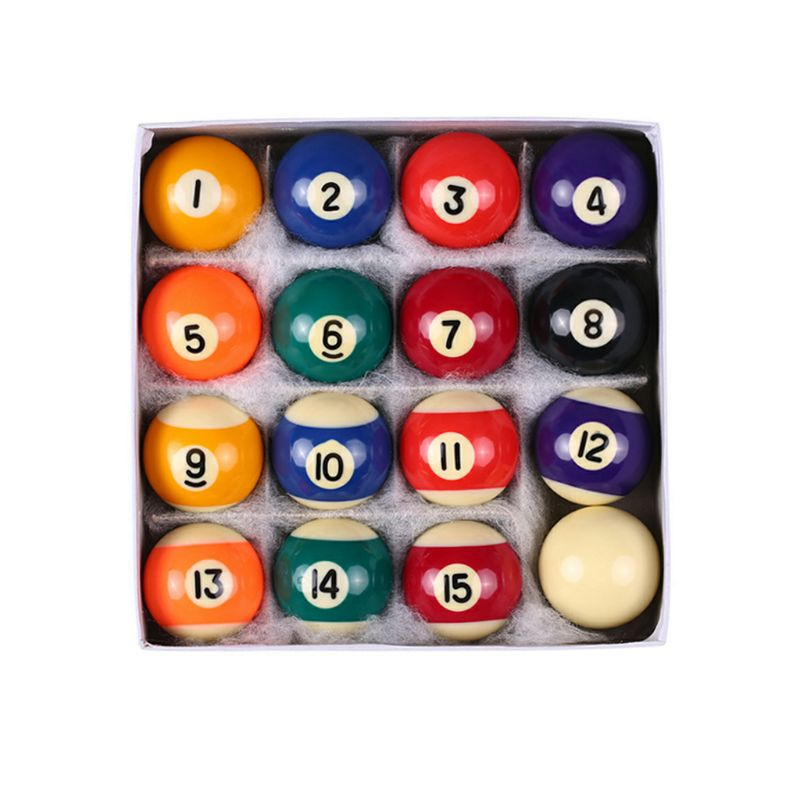 16pcs/set 25mm Resin Mini Billiard Ball Children Toy Small Pool Cue Balls Full Set Mini Pool Table Accessories