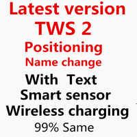New 99% Same TWS 2 Touch Bluetooth Earphones HD Stereo Wireless Headphones TWS Headset Sports headphones best quatity