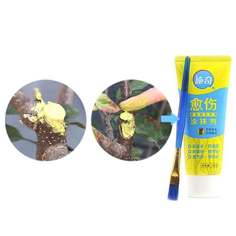 100 г дерево рана бонсай режущая паста мазок Обрезка соединение герметик с щеткой DXAF