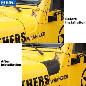 Image 3 - Mopai車のステッカージープラングラーtj車フード角度ラップカバーボディサイドエンジンカバーのために保護するwragnler tj 1997 2006
