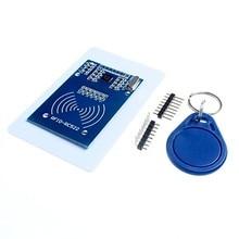 MFRC-522 RC522 RFID RF IC Card Inductive Module with Free S50 Fudan Card Key Chain Wholesale 10pcs mfrc 522 rc522 rfid rf card sensor module to send s50 fudan card keychain usb raspberry pi