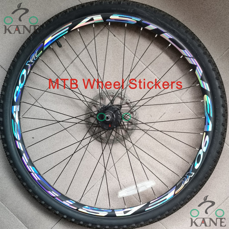 "26/"" Bike wheels custom made decals stickers KIT mountain bike or road bike"