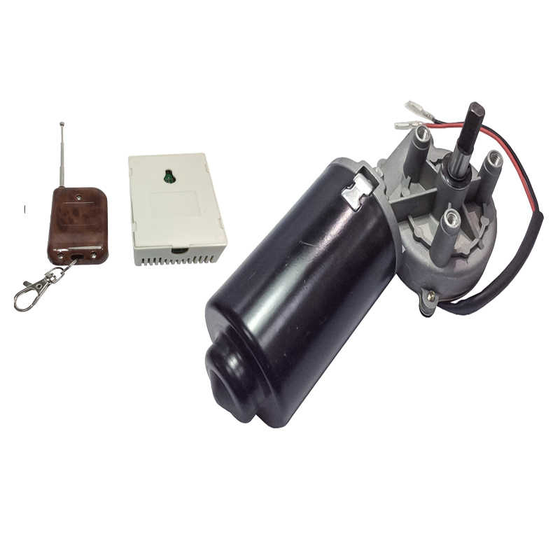50GZ70111L DC Door Motor 24V 50RPM 50W DC Right Angle Reversible Electric Gear Motor for BBQ with Double Flat Shaft High Torque