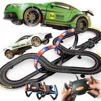 Course électrique suivi jouets télécommande dérive course autorama circuit voiture ferroviaire bricolage voiture piste train costume jouet pour garçon