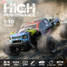 BEKOBABY 40Km/h 4WD 1/18 RC Car 2.4G Remote Control Off Road Racing Cars Vehicle 2.4Ghz Crawlers Electric Monster Truck Vehicle