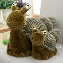 Sevimli 28cm 40cm peluş salyangoz oyuncak dolması gerçekçi böcek yumuşak bebek çocuk oyuncakları