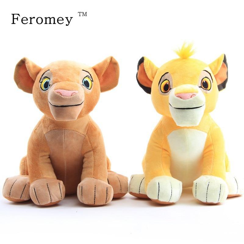 2pcs/lot The Lion King Plush Toys Simba Nala Stuffed Animal Doll Anime The Lion King Stuffed Toy Children Birthday Gift