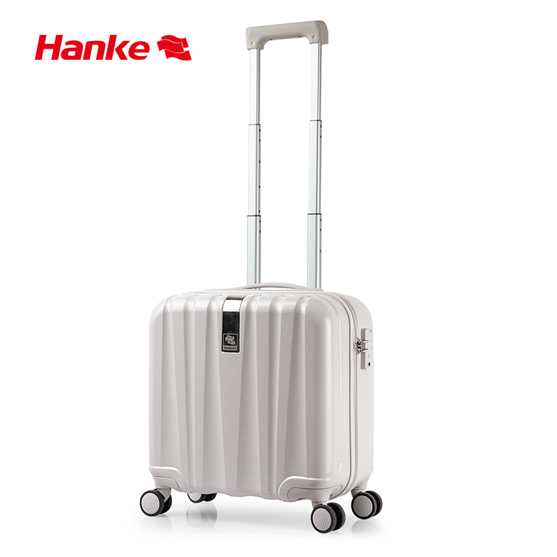 Hanke Business Travel Suitcase Carry On Luggage Hard Shell 100% PC Mute Spinner Wheels Rolling Luggage Boarding 16 18 Inch