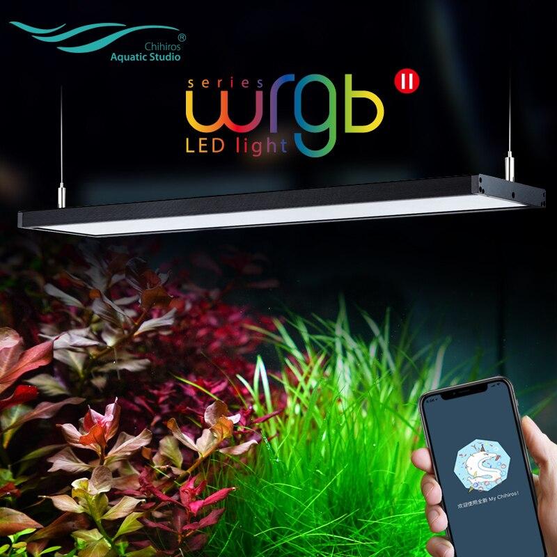 Chihiros wrgb ii 2 conduziu a iluminação de luz atualizar rgb specturn completo bluetooth app controle plantas aquáticas lâmpada tanque peixes aquário