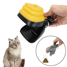 Garbage Holder Dispensers Pet Waste Bags Outdoor ABS Poop Scoop With 1 Roll Decomposable bags Portable