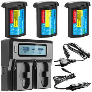 Image 2 - 3300 мАч LP E4 LP E4 LP E4N батарея камеры или LCD быстрое зарядное устройство для Canon EOS 1D Mark III,EOS 1D Mark IV,EOS 1Ds Mark III
