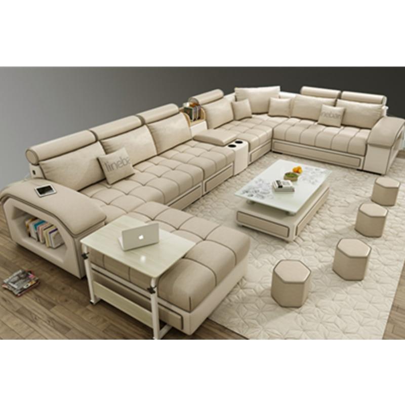 u shaped sectional sofa modern european style living room fabric sofa