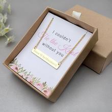 Ожерелье подружки невесты с именем в подарочной коробке Золотое персонализированное ожерелье из нержавеющей стали с именной табличкой ювелирные изделия невесты