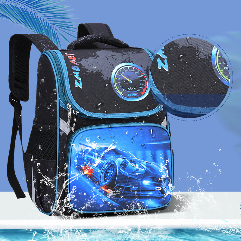 1-4 Grade Children Backpacks Boys School Bags Russia Space Bag 3D Cartoon Car Boy School Backpack Orthopedic Kids Satchel