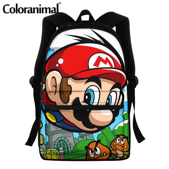 Coloranimal 2020 Japanese Anime Mario Design School Bags For Teenger Girls Boys Casual Backpacks Large Scool Bag Men Satchel 12