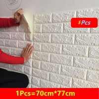 5pcs DIY Brick Home Decoration stickers on the wall Living Room Bedroom Decor Foam Self Adhensive kids Art home 3D Wallpaper