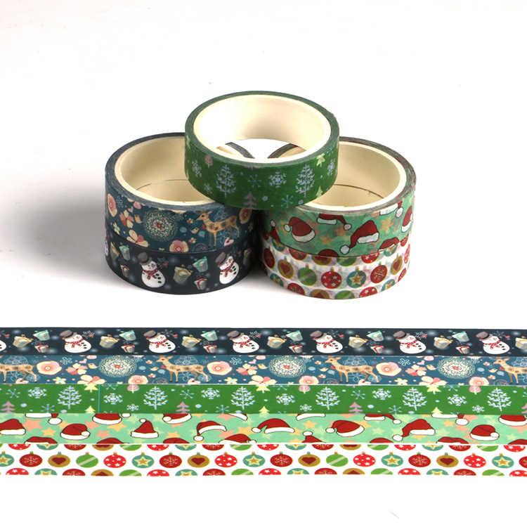 5 Pcs//lot Christmas Tree Snowflake Reindeer Masking Washi Tapes Set Stationery
