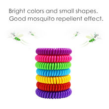12pcs Anti Mosquito Bracelet Insect Bugs Band wristband Repellent Killer Safe for Baby Children Repeller Camping Outdoor Z0430(China)