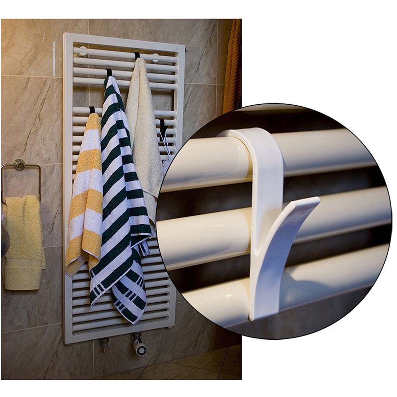 High Quality Hanger For Rail Radiator Towel Warmer Bath Hanger Hook Holder Plegable Scarf Hanger White 6pcs Fast Ship