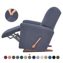 Fodera per divano elasticizzata reclinabile in pile addensato cuscino di protezione reclinabile grigio antracite rivestimento per mobili antiscivolo plaid sul divano
