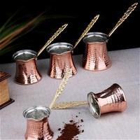 수제 터키 커피 포트 오스만 아랍어 차 커피 에스프레소 냄비 100 구리 터키 커피 메이커 커피 포트 터키에서 만든|커피포트|홈 & 가든 -