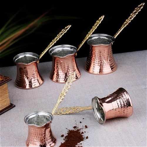 手作りトルココーヒーポットオットマンアラビア茶コーヒーエスプレッソポット 100 銅トルココーヒーメーカーコーヒーポットトルコ製