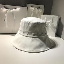 Japanese Bucket Hat Women Summer Outdoor Travel Fishing Sun Hats Bob Cotton Letter Embroidery Panama Fisherman Hat Basin Caps