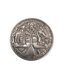 Pyramid Wanderer Commemorative Coin Anubis And Eagle Collect Coins Crafts Home Decoration Gift Accessories