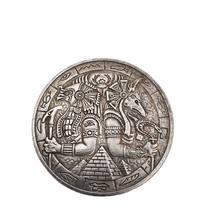 Moneda conmemorativa de piramidal wrener, Anubis y águila, colección de monedas artesanales, decoración del hogar, accesorios de regalo