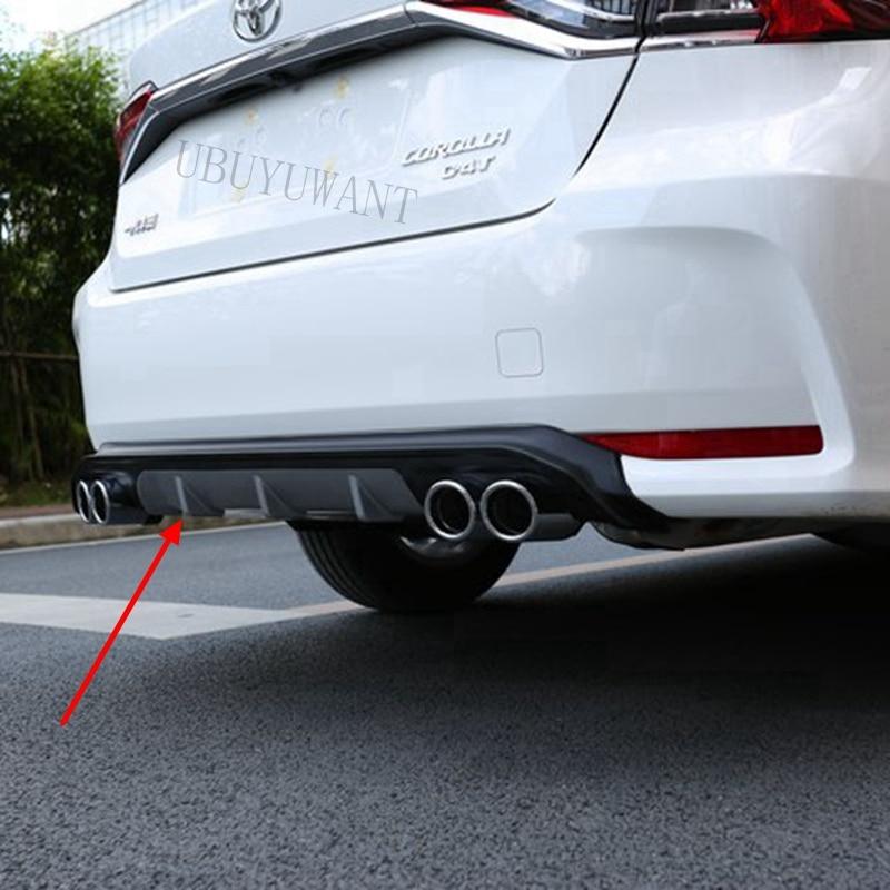 Car Rear Bumper Decoration Lip Diffuser Protector Body kit Spoiler For Toyota New Corolla 2019 2020 Bumpers     - title=