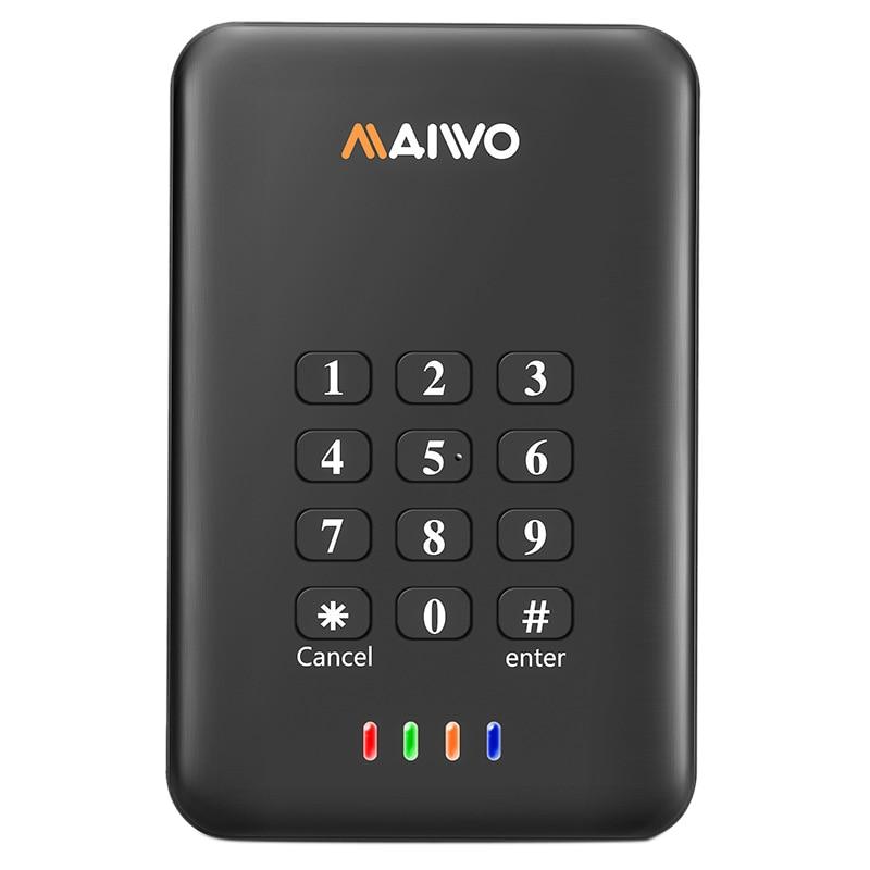 MAIWO K2533A 500G 3.0 USB 2.5 Inch Portable HDD Hardware Encryption Mobile External Hard Disk Drive For Desktop PC